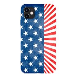 Flag Custom Liquid Silicone Phone Case For Iphone 12 Mini