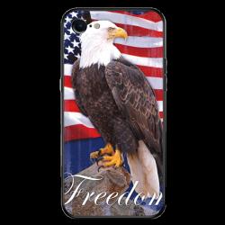 Freedom Bald Eagle Custom Toughened Phone Case for iPhone 8