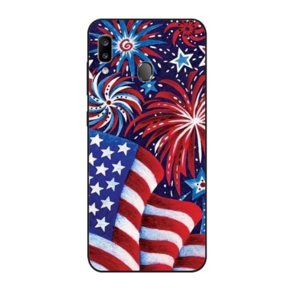 Fireworks And Flag Custom Phone Case for Samsung
