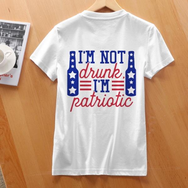 Patriotic Custom Women's T-shirt White