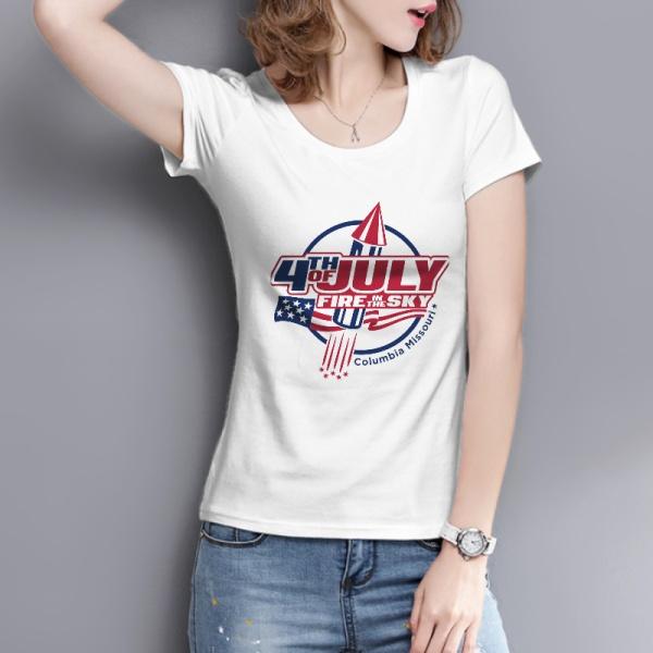 Fire In The Sky Custom Women's T-shirt