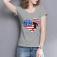 Flag Billiards Custom Women's T-shirt Gray