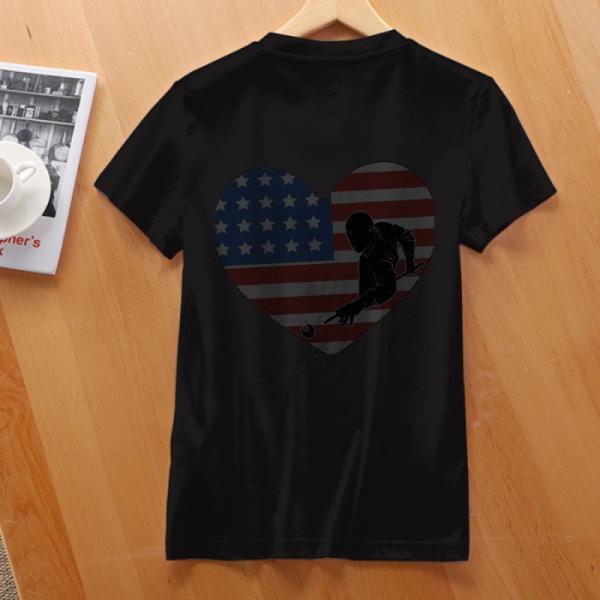 Flag Billiards Custom Women's T-shirt Black