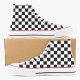 Checkerboard High Top Canvas Shoes