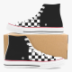 Black Checkerboard High Top Canvas Shoes